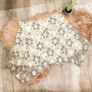 NEW Rachel Roy A-Line Floral Lace Skirt